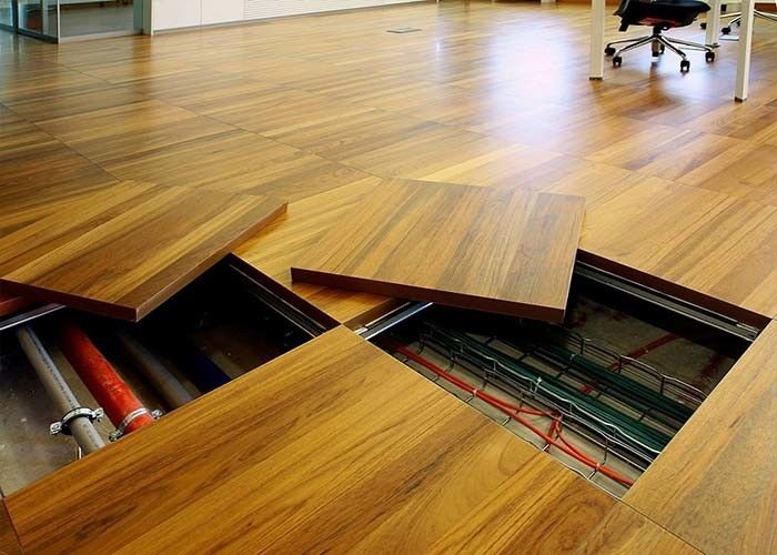 HPL Wooden Floor Raising AntiStatic Chipboard Raised Floor Board PVC Sides