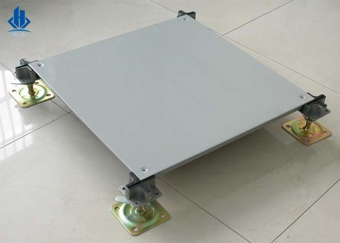 500/600 Bare Steel Stringerless OA Floor Access For Bank Office , Long Life